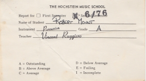 first report card 1976
